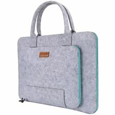 Ropch 17.3 Inch Laptop Sleeve Felt Case Portable Notebook Messenger Bag Carrying