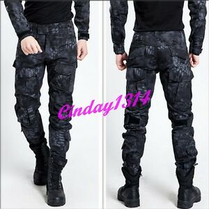Men Military Trousers Snake Skin Tactical Army Cargo Outdoor Long Pants Overalls