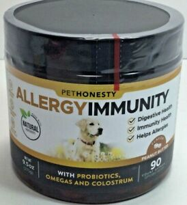 NEW Pethonesty Allergy Immunity Health Supplement 90 Count EXP 07/22 Free Ship!
