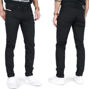 Diesel Mens Slim Skinny Fit Tapered Stretch Jeans Pants - Troxer Black
