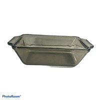 Anchor Hocking Bread Loaf Bake Pan Dish Amber Heavy Glass 5x9 1.5 Qt #1041 USA