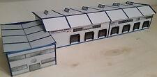 Logistikzentrum mit Verwaltungsgebäude Spedition HO Epoche 4/5/6 Kartonmodellbau