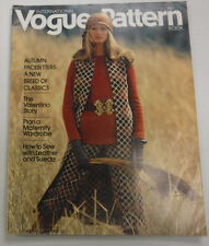 Vogue Pattern Magazine Autumn Pacesetters August/September 1971 081215R
