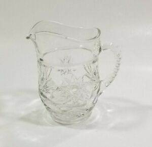 Anchor Hocking Juice Creamer Clear Glass Star Pint Pitcher