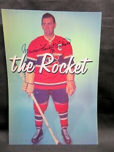 """MAURICE """"ROCKET"""" RICHARD, 7 x 10 Signed Photo with COA, Montreal Canadiens"""