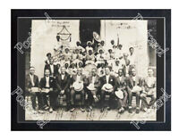 Historic Louis Armstrong & his band visit Municipal Boys Home 1931 Jazz Postcard