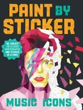 Paint by Sticker Rock Music Icons: Re-create 12 Classic Photos One Stickers NEW