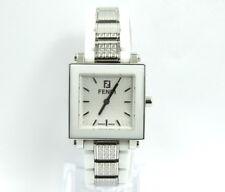 FENDI Orologi WHITE CERAMIC Stainless Steel MOTIF Links Quartz Watch F632240