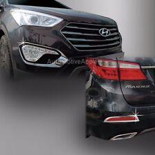 Chrome Fog Lamp Molding Garnish For 2013 2016 Hyundai Santa Fe XL