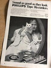 B8b Ephemera Vintage Advert Phillips Tape Recorders