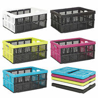 Collapsible 31 Litre Plastic Storage Crate Box Solution Home Warehouse Garage