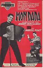 LIVRET PARTITIONS VERCHUREN & MARCEL FORT *MONDADA* & *TANGO ORIENTAL* ACCORDEON