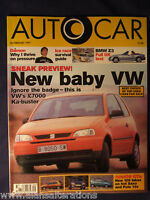 AUTOCAR Magazine 26th February 1997 SEAT Arosa
