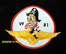 VF-81 FIGHTER SQUADRON PIRATE COLLECTOR PATCH  COUGARS VFA-81 SUNLINERS US NAVY