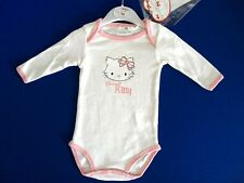 BODY MANICHE LUNGHE PANNA HELLO KITTY  BIMBA 23 MESI