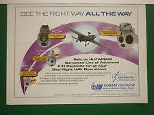 6/06 PUB IAI TAMAM MISSILES SPACE E/O PAYLOADS OPTRONIC UAV DRONE OPTRONIQUE AD