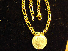 bling gold Plated figaro hip hop link chain necklace jewelry pimp thug gang thin