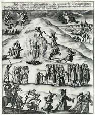 Witch Burning Germany 1670 6x5 Inch Print