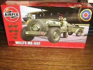 AIRFIX - MOEL KIT - THE WILLYS MB JEEP  - 1:72