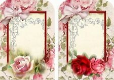 12 HANG/GIFT TAGS SCRAPBOOK JEWELRY HOLDER IMAGES (917-B)
