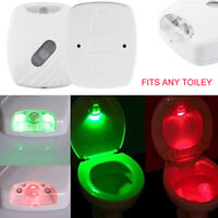 LED Toilet Lid Induction Lamp Night Light Human Motion Activated Sensor Lamp