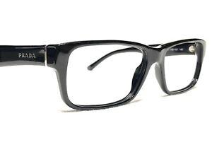 Prada VPR16M 1AB-1O1 Men's Black Modern Rx Designer Eyeglasses Frames 55/16~140