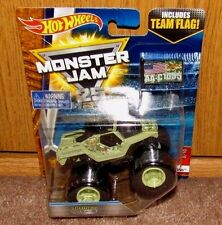 Hot Wheels MONSTER JAM 25 SOLDIER FORTUNE Epic Additions Team Flag 1:64 NEW