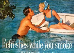 1960 Vintage Print Ad NEWPORT Menthol Like No Other Cigarettes