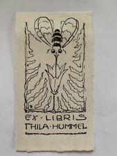 Ex-libris Alsace Paul KAUFMANN pour Thila Hummel, 84 x 43 mm