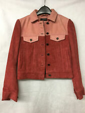 Muubaa London Women's Leather/Suede Pink Jacket. Size UK 8. RRP £425.
