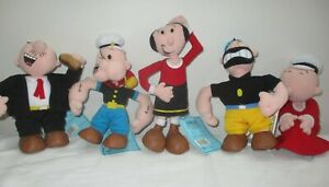 Popeye, Olive Oyl, Brutus, Sweet Pea, Wimpy - Limited Edition Collectable Beans
