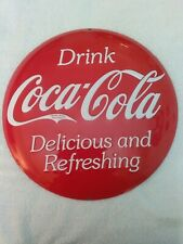 Coca-Cola 14 inch 3D Button Sign Delicious and Refreshing