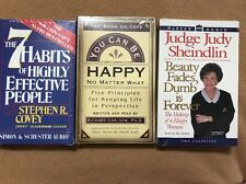 Audio Books 7 Habits, You Can Be Happy, & Judge Judy. New Set Of 3