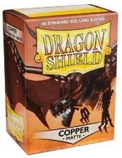 Matte Dragon Shields Standard Size Card Protector Sleeves MTG 100ct Copper box