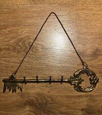 Vintage Antique Door Key Hanging Solid Brass Wall Mount Key Rack Holder