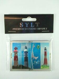 Sylt Lighthouse Germany Premium Souvenir Magnet, Laser Optics