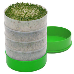 Seed Sprouter Stackable Sprouting Trays Germination Kit Kitchen Crop Hydrophobic