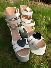 Charla Tedrick Foreva White Wedding Platforms UK8 US11