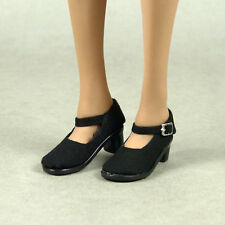 1/6 Phicen, Hot Toys, Kumik, SD Female Black Low Platform Side Buckle Heel Shoes