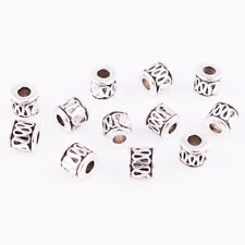 30pcs Tibetan Silver Loose Beads Jewelry Making DIY Crafts Bracelet Necklace