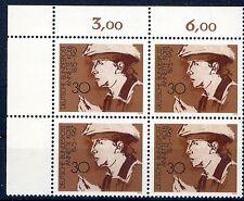 Bund Mi-Nr 826 4er Block+E1 (30) -Bed.deutsche  Frauen (II)- ** Postfrisch 1975