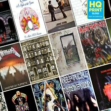 Rock Album Posters Best 20 Albums Iron Maiden The Beatles | A5 A4 A3 A2 A1 |