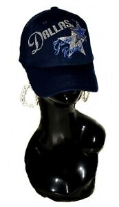 Dallas Game Ready Navy fitted Adjustable Cap with Shiny Gitter lettering.