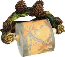Rivers Edge Pinecone Wall Mount Toilet Paper Holder Man Cave Cabin RV Camp Lodge