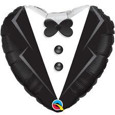 Wedding Tuxedo Heart Shaped Balloon Qualatex Standard Size Foil
