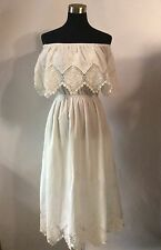 CHICWISH Women's Lacey Flair Off-shoulder Maxi Dress White SZ S NWT