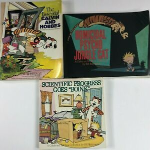 Lot Of 3 Calvin And Hobbes Paperback Books