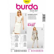 Burda Easy Top Trousers Skirt Jacket Fabric Sewing Pattern 7075