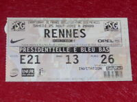 [COLLECTION SPORT FOOTBALL] TICKET PSG /  RENNES 25 AOUT 2001 Champ. France