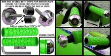 SEADOO BOMBARDIER WATERCRAFT 3D GTI GTS GTX SP XP GREEN GRIPS CHROME BAR ENDS